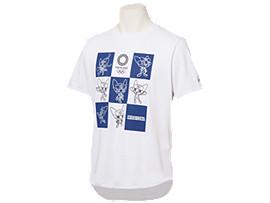Front Top view of Tシャツ(東京2020オリンピックマスコット), ホワイト
