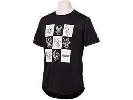 Front Top view of Tシャツ(東京2020パラリンピックマスコット), ブラック