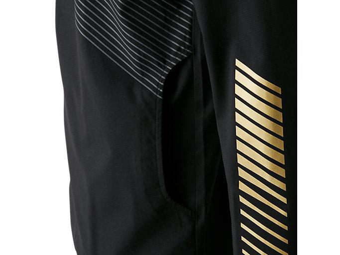 Alternative image view of LIMO®ストレッチクロスフーディージャケット, パフォーマンスブラック×ゴールド