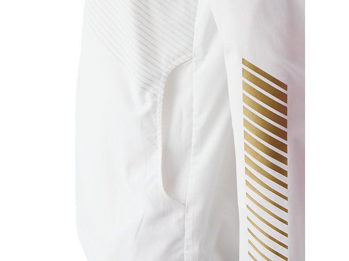 Alternative image view of LIMO®ストレッチクロスフーディージャケット, ブリリアントホワイト×ゴールド