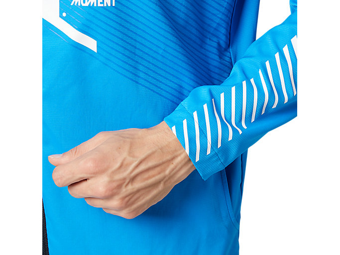 Alternative image view of LIMO®ストレッチクロスフーディージャケット, ディレクトワールブルー