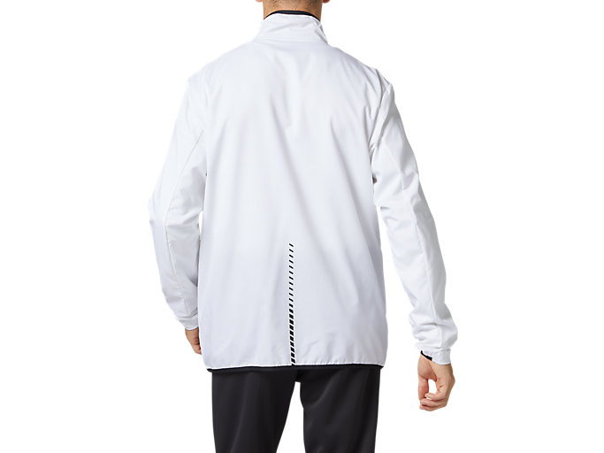 Back view of LIMO®ストレッチクロスジャケット, ブリリアントホワイト