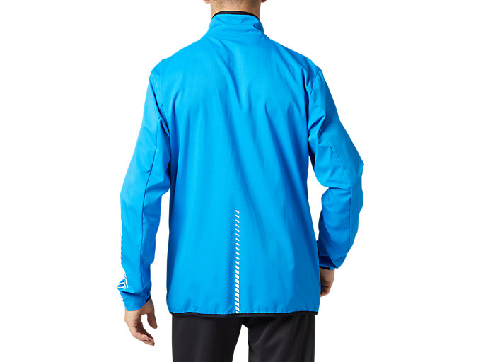 Back view of LIMO®ストレッチクロスジャケット, ディレクトワールブルー