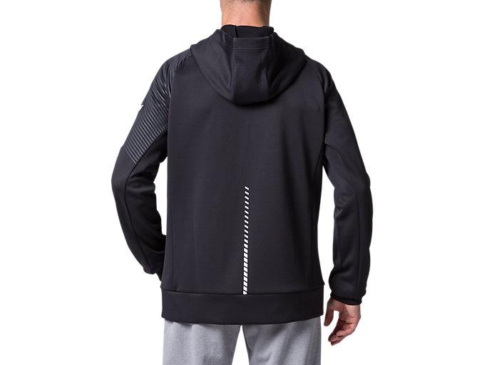 Back view of LIMO®スウェットフルジップフーディー, パフォーマンスブラック