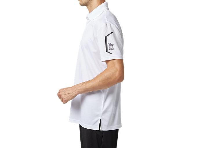 Side view of LIMOドライポロシャツ, ブリリアントホワイト