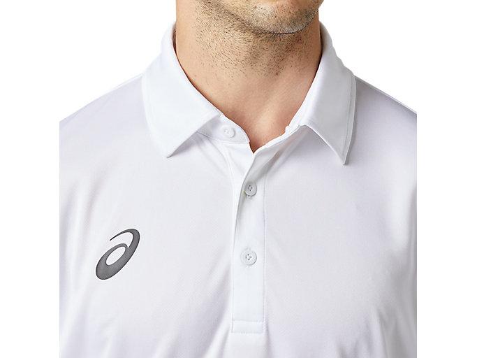 Alternative image view of LIMOドライポロシャツ, ブリリアントホワイト
