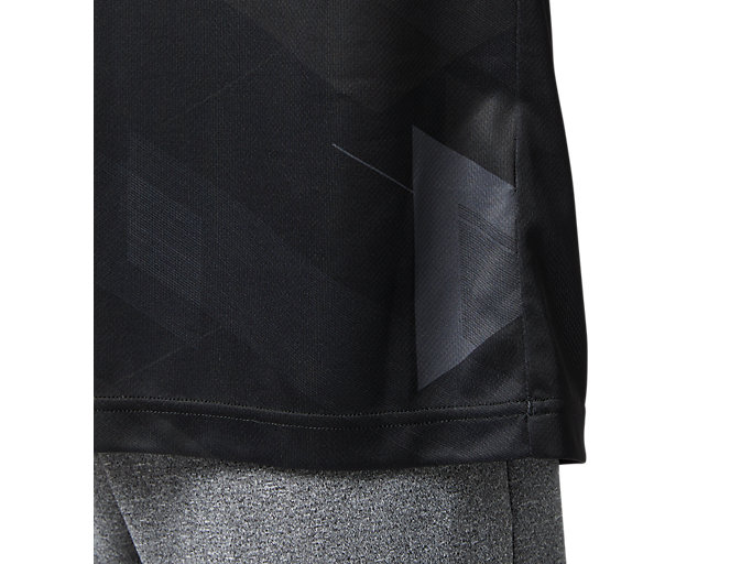 Alternative image view of LIMO昇華グラフィックショートスリーブトップ, パフォーマンスブラック