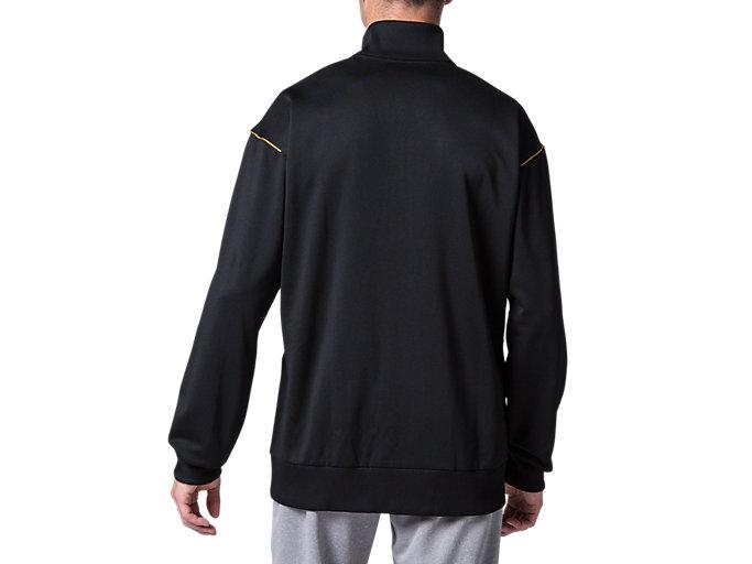 Back view of CAトレーニングジャケット, パフォーマンスブラック×ゴールド