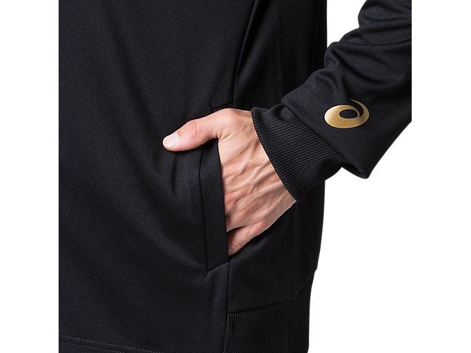 Alternative image view of CAトレーニングジャケット, パフォーマンスブラック×ゴールド