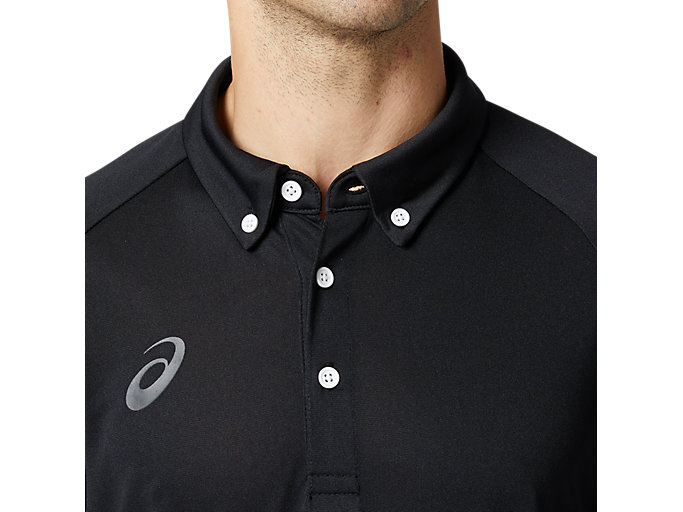Alternative image view of CAボタンダウンポロシャツ, パフォーマンスブラック