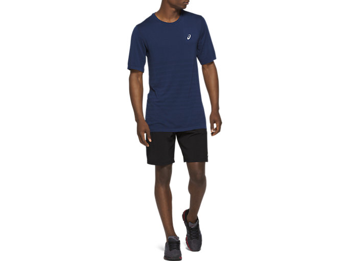 Front Top view of 9In Stretch Woven Train Short