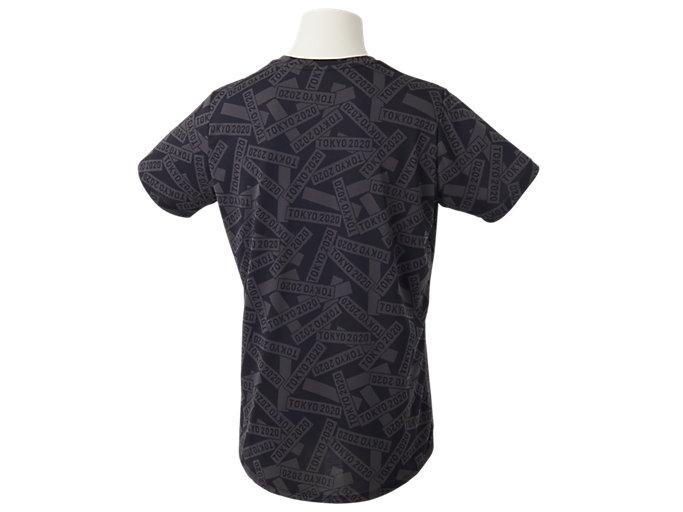 Back view of Tシャツ(東京2020オリンピックエンブレム), ブラック