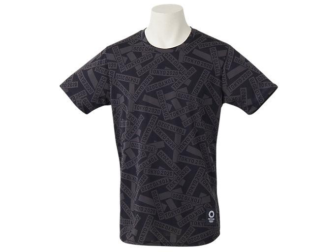 Front Top view of Tシャツ(東京2020オリンピックエンブレム), ブラック