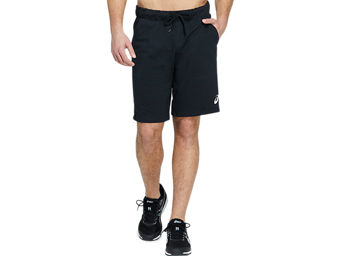 Front Top view of SPORT BIG LOGO SHORT, PERFORMANCE BLACK/BRILLIANT WHITE