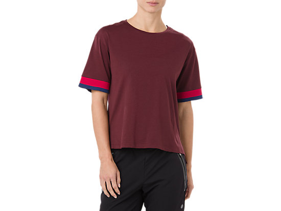 MIX FABRIC SS TOP, PORT ROYAL