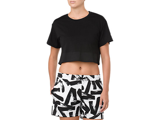 POWER SS CROP TOP, PERFORMANCE BLACK