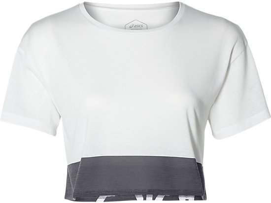 POWER SS CROP TOP, BRILLIANT WHITE
