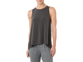 DRAPE TANK, PERFORMANCE BLACK