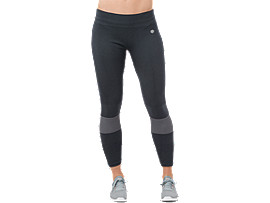 Front Top view of SEAMLESS TIGHT, PERFORMANCE BLACK