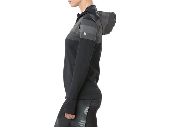 Alternative image view of SEAMLESS FZ HOODIE, PERFORMANCE BLACK