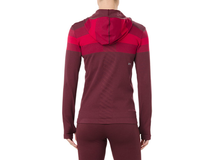 Back view of SEAMLESS FZ HOODIE, PORT ROYAL