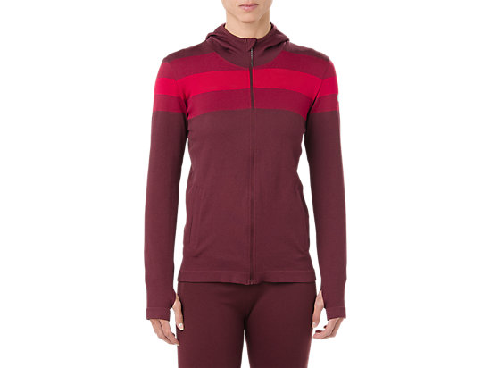 SEAMLESS FZ HOODIE, PORT ROYAL