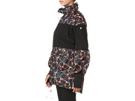 W'SLPロングフーディーウィンドジャケット, BLACK/BLACK