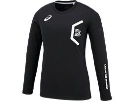 LIMO W'Sロングスリーブシャツ, BLACK/BLACK