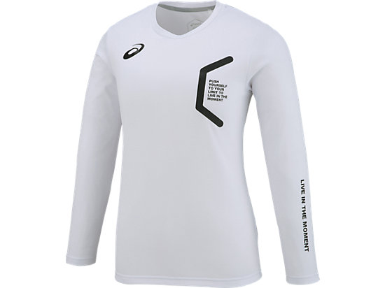LIMO W'Sロングスリーブシャツ, WHITE/WHITE