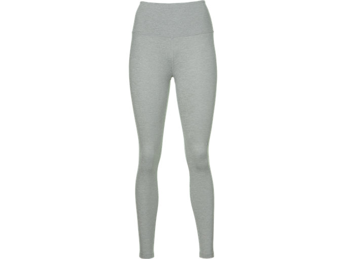 Front Top view of HIGH WAIST TIGHT, MID GREY HEATHER