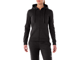 TAILORED FZ HOODY, PERFORMANCE BLACK HEATHER