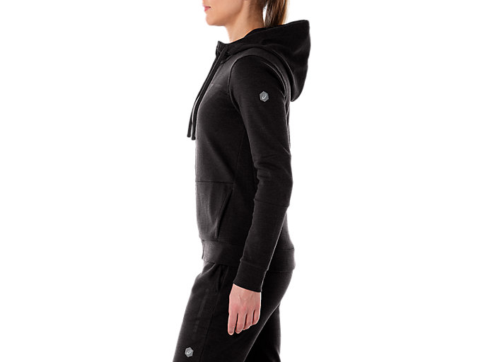 Alternative image view of TAILORED FZ HOODY, PERFORMANCE BLACK HEATHER