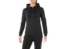 Alternative image view of TAILORED OTH BRUSHED HOODY, PERFORMANCE BLACK HEATHER