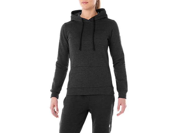 Alternative image view of TAILORED OTH BRUSHED HOODY, PERFORMANCE BLACK