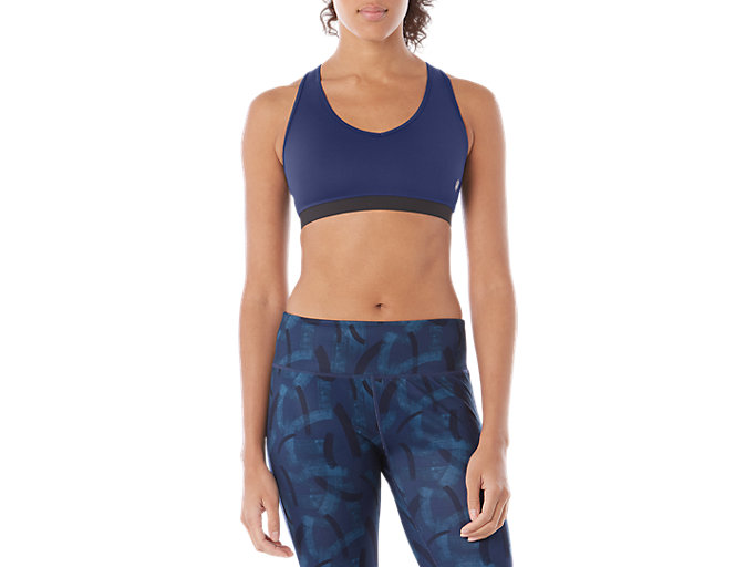 Alternative image view of LOW SUPPORT BRA, BLUE PRINT