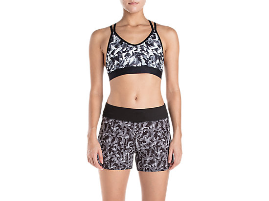 AOP GRAPHIC LOW SUPPORT BRA PERFORMANCE BLACK
