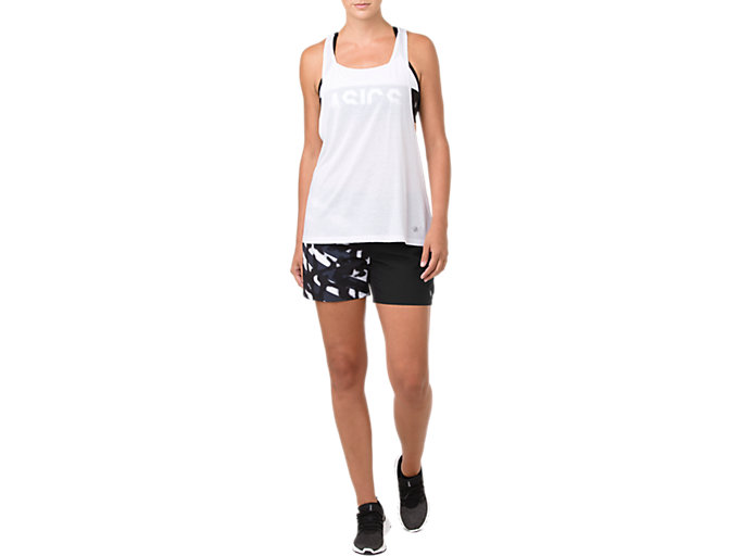 Front Top view of POWER STRAP BACK TANK, BRILLIANT WHITE
