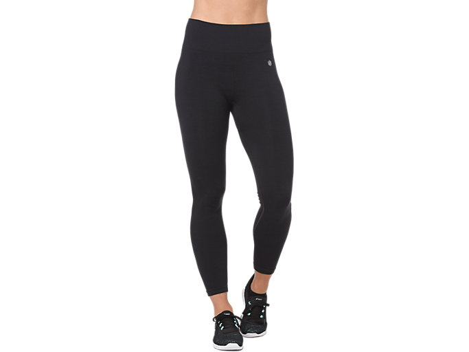 SEAMLESS CROPPED TIGHT, PERFORMANCE BLACK HEATHER