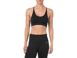 SEAMLESS STRAP BRA, PERFORMANCE BLACK HEATHER