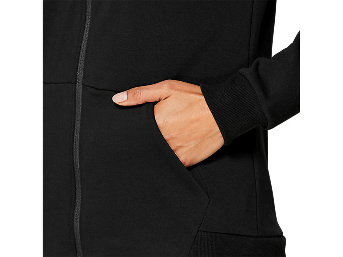 Alternative image view of ESSENTIAL FRENCH TERRY FZ HOODIE, PERFORMANCE BLACK