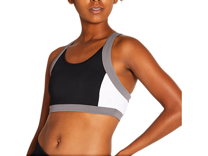 Alternative image view of COLOR BLOCK BRA 2, PERFORMANCE BLACK