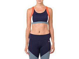 Front Top view of COLOR BLOCK BRA 2, PEACOAT