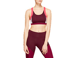 Front Top view of COLOR BLOCK BRA 2, DEEP MARS