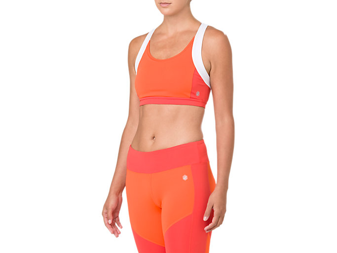 Front Top view of COLOR BLOCK BRA 2, NOVA ORANGE