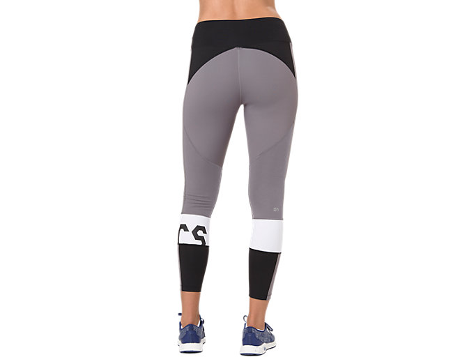 Back view of COLOR BLOCK CROPPED TIGHT 2, PERFORMANCE BLACK