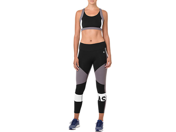 Front Top view of COLOR BLOCK TIGHT 2, PERFORMANCE BLACK