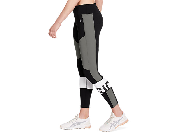 Side view of COLOR BLOCK CROPPED TIGHT 2, PERFORMANCE BLACK/CARBON