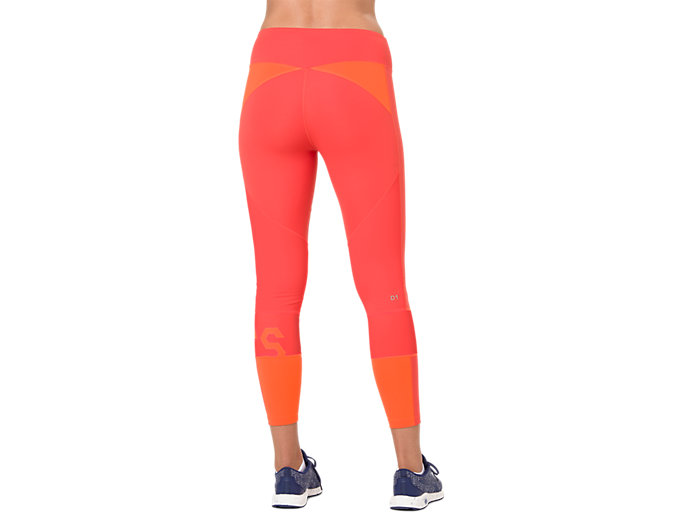 Back view of COLOR BLOCK TIGHT 2, NOVA ORANGE