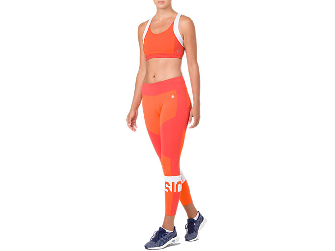 Front Top view of COLOR BLOCK TIGHT 2, NOVA ORANGE