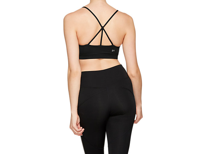 Back view of STRAPPY BACK BRA, PERFORMANCE BLACK